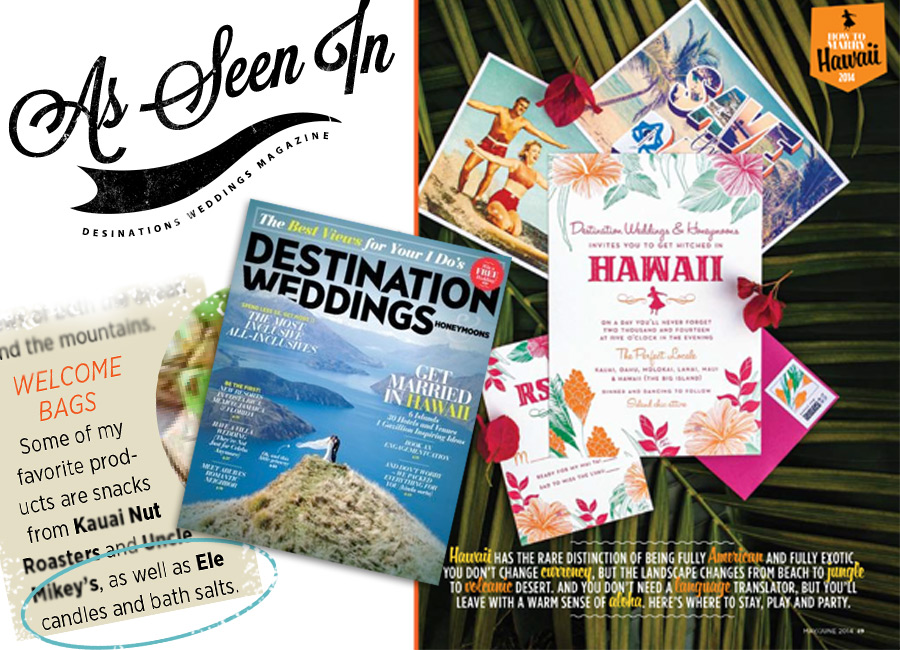 Ele's mention in Desrination Weddings Magazine